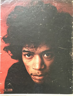 jimi hendrix collector newspaper/fabulous 208 jimi hendrix poster/14/10/67