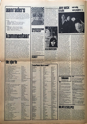 jimi hendrix newspaper 1968/hit week 15/11/68