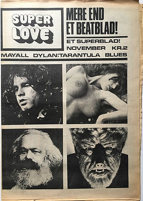jimi endrix newspaper 1968/superlove 1968 November