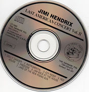 jimi hendrix bootlegs cd /jimi hendrix  last american concert  vol 2
