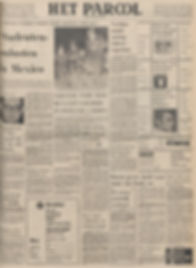 jimi hendrix newspaper 1968/ het parool  september 21 1968