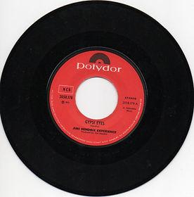 jimi hendrix collector vinyls singles/ gypsy eyes norway