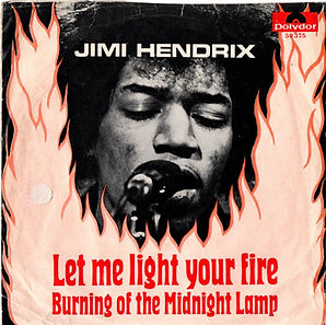 jimi hendrix collector singles vinyls 45r/let me light your fire/the burning of the midnight lamp/singapore 1969 polydor
