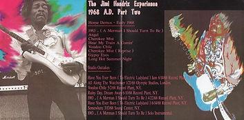 jimi hendrix cd bootlegs/1968 AD part two