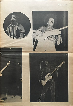 jimi hendrix newspapers 1970 / changes november 1,  1970
