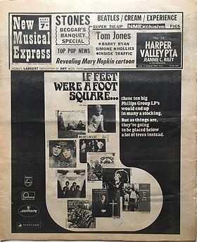 jimi hendrix newspaper 1968/new musical express december 14 1968