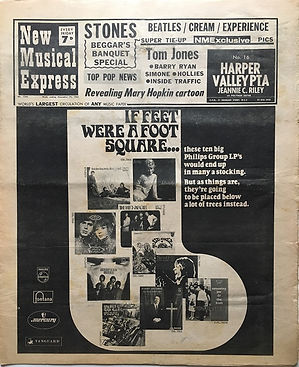 jimi hendrix newspaper 1968/new musical express december 14 1968