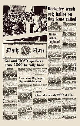 jimi hendrix newspaper 1969/ daily aztec may 23 1969