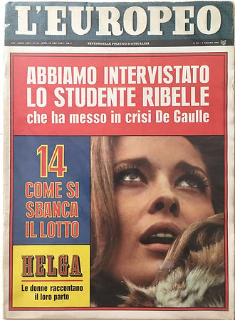 jimi hendrix magazine/ l'europeo june 1968 italy