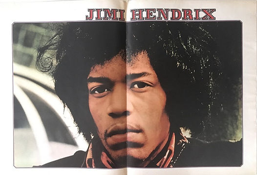 jimi hendrix magazines 1970 / musik boutique august 1970 /  poster