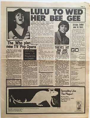 jimi hendrix newspaper 1969/go  january 17 1969