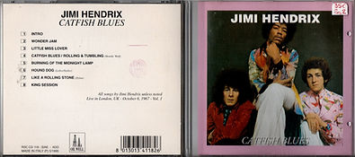 jimi hendrix collector cd bootlegs/catfish blues cd/1995 oil well