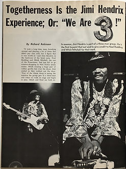 jimi hendrix magazine 1968/ hullabaloo october 1968 :we are 3
