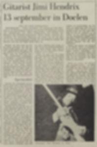 jimi hendrix newspaper 1970/ september 1970