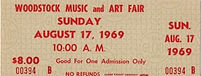 jimi hendrix memorabilia 1969/ticket woodstock august 17 1969