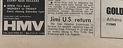 jimi hendrix collector newspapers/jimi US return/ new musical express 23/9/1967