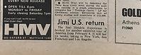 jimi hendrix collector newspapers/jimi US return/ new musical express 23/9/1967