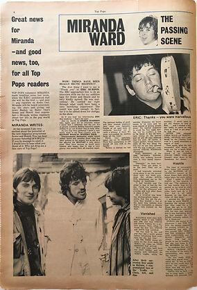 jimi hendrix collector newspapers/ top pops N°7 october 1967