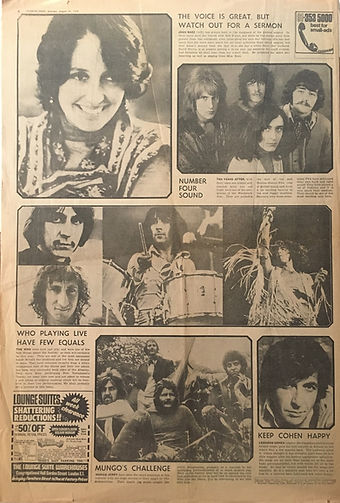 jimi hendrix newspapers 1970 / evening news / august 29, 1970 / isle of wight experience