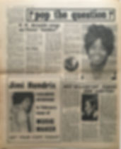 jimi hendrix newspaper/disc music echo 3/2/68