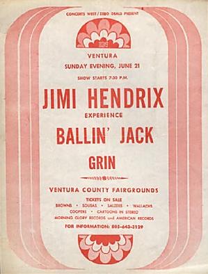 jimi hendrix memorabilia 1970/ june 21,1970