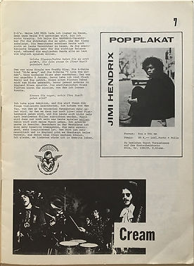 jimi hendrix magazine/sounds july 1968