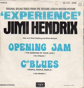 "1971 jimi hendrix singles vinyls/opening jam/c""blues vogue 1971"