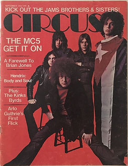 jimi hendrix magazine 1969/circus sept. 1969 :body & soul