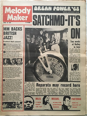 jimi hendrix newspaper/melody maker 20/4/1968