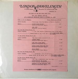 jimi hendrix vinyls radio show / london wavelenght : the jimi hendrix special version b