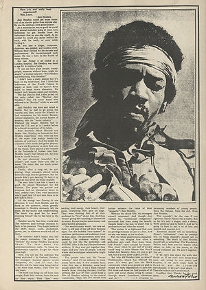 jimi hendrix newspapers 1970 / the rag october 5, 1970