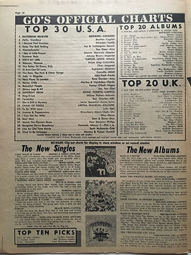 jimi hendrix newspaper/go / top 20 albums/ are you expeienced N°7