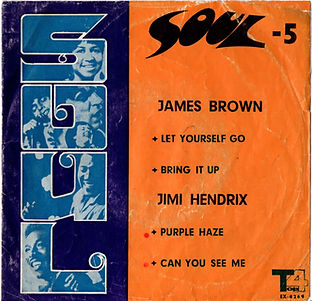 jimi hendrix collector EP singles 45t/purple haze/can you see me Top4 records labels/ iran 1970