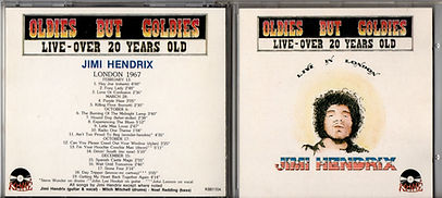 jimi hendrix collector bootlegs cds/live in london koiné records 1988