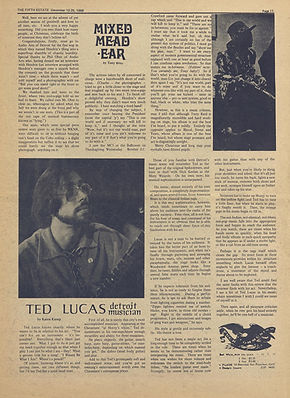 jimi hendrix newspaper 1968/detroit the fifth estate  december 12-25  1968