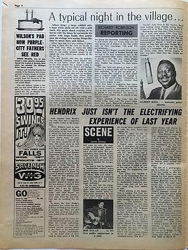 jimi hendrix newspaper/go  3/15/68
