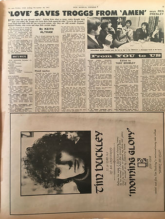 jimi hendrix collector newspaper/new musical express 18/11/1967 jimi hendrix tour