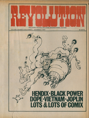 jimi hendrix newspapers 1970 / revolution :  november 1,  1970