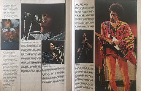 jimi hendrix collector magazines 1970/ salut les copains november 1970 / isle of wight