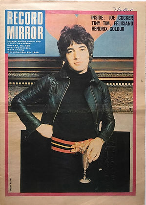 recor mirror/jimi hendrix newspaper 1968/ November 9 1968