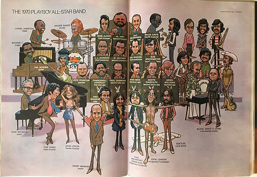 jimi hendrix magazines 1970 /playboy  february, 1970 the 1970 playboy all-star band