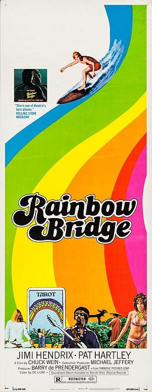 jimi hendrix collector memorabilia / poster  film rainbow bridge