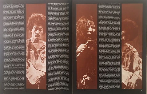 jimi hendrix magazines 1970 death/ rock & folk : november1970