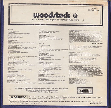 jim hendrix reel to reel / woodstock