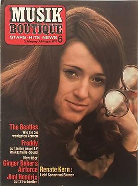 jimi hendrix magazines 1970 / musik boutique august 1970