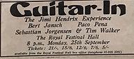 jimi hendrix collector memorabilia/program guitar in/25/9/1967 london the royal festival hall