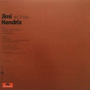 jimi hendrix albums lps vinyls/isle of wight
