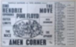 jimi hendrix collector memorabilia/AD uk tour november/december 1967 jimi henrix experience