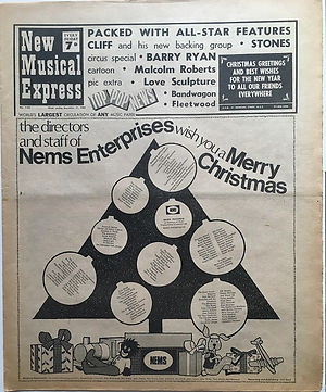 jimi hendix newspaper 1968/new musical express december 21 1968