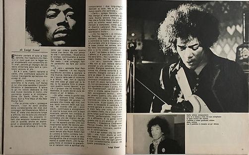 jimi hendrix magazines 1969/ciao 2001 N°48 dec. 24, 1969:ho deciso cambio tutto!